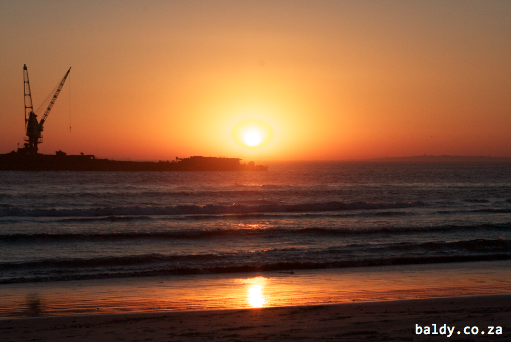 Sunset on Blouberg beach